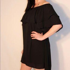 NWOT. Off The Shoulder Black Dress.